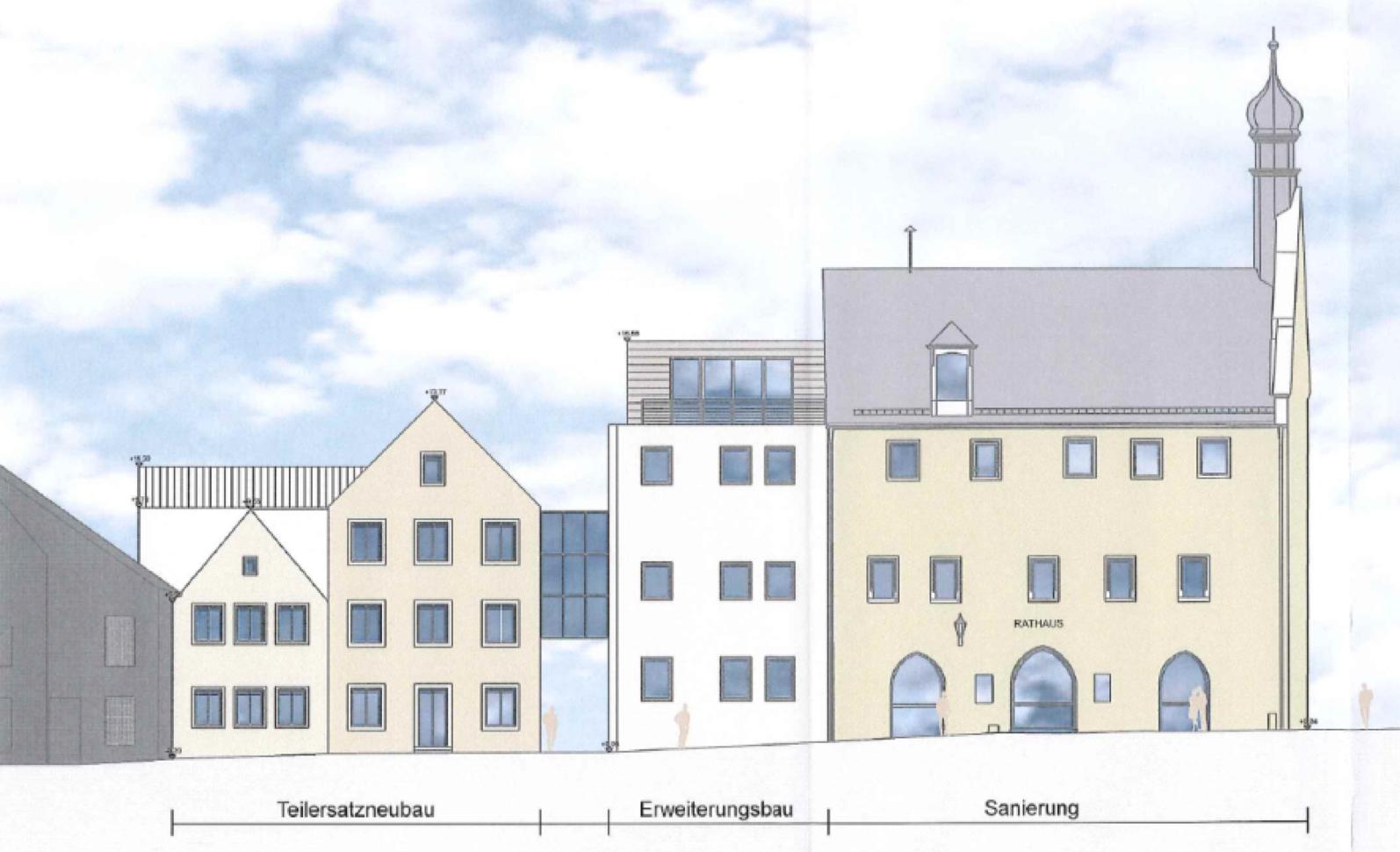 Generalsanierung und Teilersatzneubau des Rathauses in Abensberg