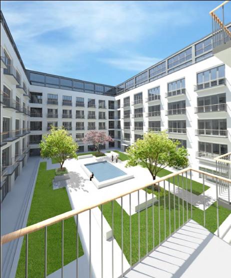 Umbau ehemalige University of Maryland in eine Wohnanlage in der Soyerhofstraße, München