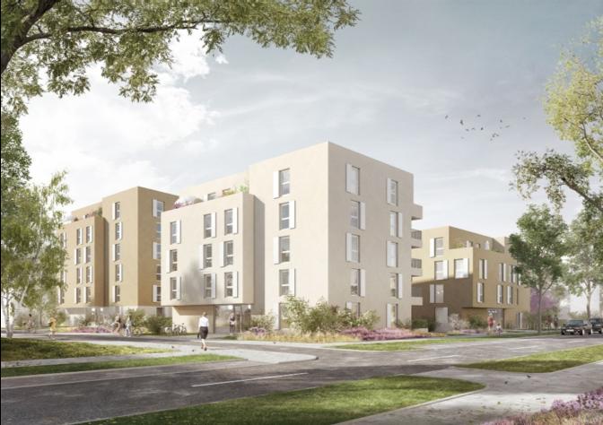 Neubau Wohnanlage mit Kindertagesstätten und Tiefgaragen in Freiham Nord WA 4 und WA 5